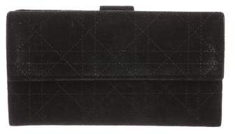 Christian Dior Cannage Suede Wallet