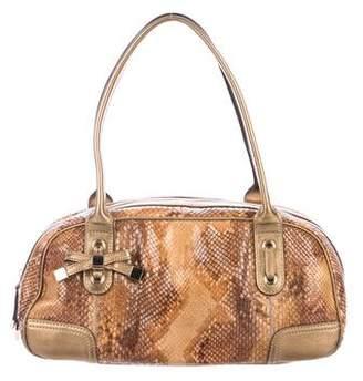 Gucci Python Princy Boston Bag