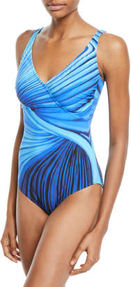 Gottex Northern Lights Printed One-Piece Swimsuit