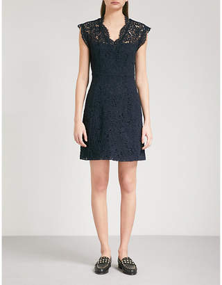 Claudie Pierlot V-neck floral-lace dress