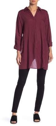 Blu Pepper Vented Hem Stripe Long Sleeve Shirt