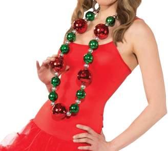 Rubie's Costume Co Rubie's Costume Women's Clausplay Jumbo Christmas Necklace