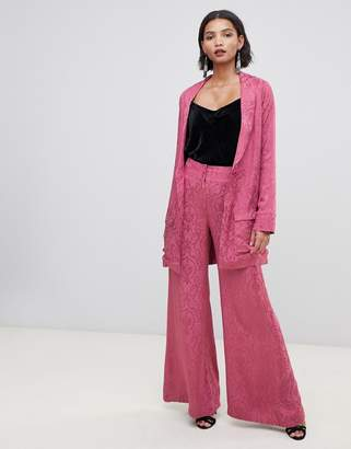 For Love & Lemons Lara wide leg trousers in paisley