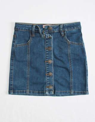 Almost Famous Button Front Dark Wash Girls Denim Skirt