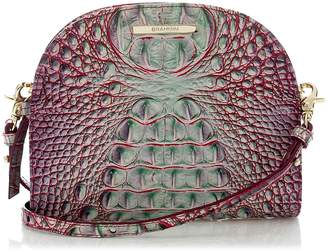 Brahmin Leah Croc Embossed Leather Crossbody Bag
