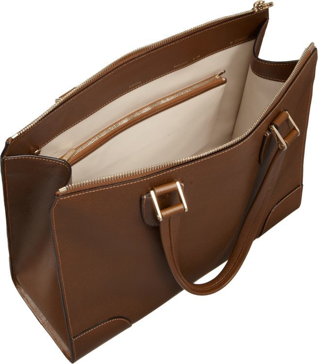 Valextra Babila Shoulder Bag-Brown
