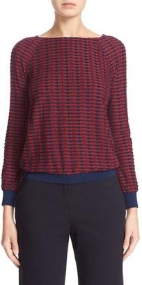 Women's Armani Collezioni Stripe Jacquard Sweater $575 thestylecure.com