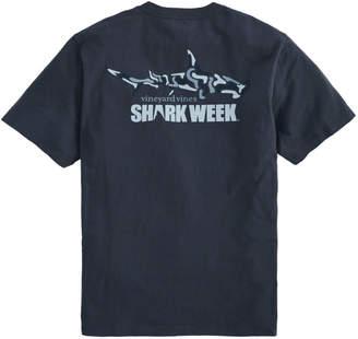 Vineyard Vines Adult Shark Week Camo Shark Pocket T-Shirt