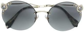 Miu Miu round shaped sunglasses