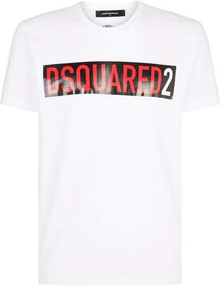 DSQUARED2 Logo Stripe T-Shirt