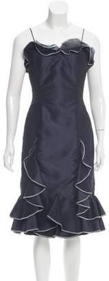 Oscar de la Renta Ruffle-Trimmed Silk Dress