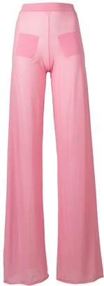 Courreges sheer wide leg trousers