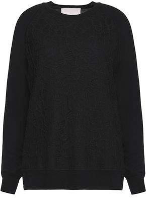 Jason Wu Woman Embroidered Wool-blend Sweater Black Size L Jason Wu Best P55z7Q