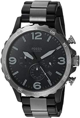 Fossil Men's JR1527 Nate 50mm Chronograph Two-Tone Stainless Steel Watch