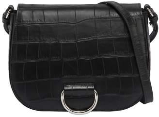 Medium Saddle Embossed Leather Bag