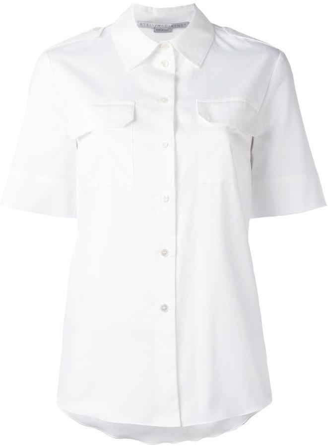 Stella McCartneyStella McCartney short sleeve military shirt