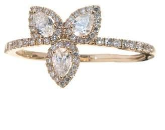 Meira T 14K Rose Gold White Topaz Ring