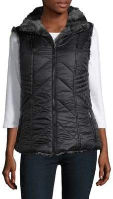 Gallery Faux Fur Reversible Vest