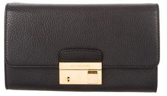 MICHAEL Michael Kors Michael Kors Gia Leather Clutch