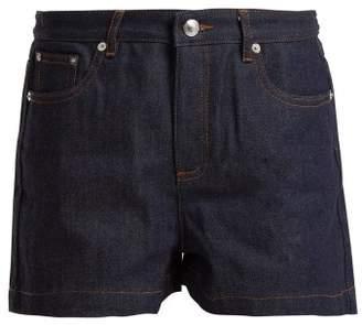 A.P.C. High Rise Rigid Denim Shorts - Womens - Indigo