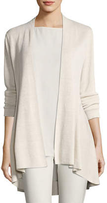 Eileen Fisher Long Crepe-Knit Shaped Cardigan $318 thestylecure.com