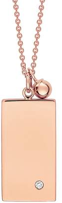 ginette_ny Mini Ever Rectangle Necklace - Rose Gold