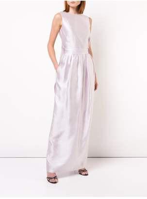 ADAM by Adam Lippes Iridescent Silk Long Skirt