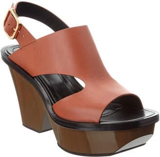 Marni Leather Platform Sandal