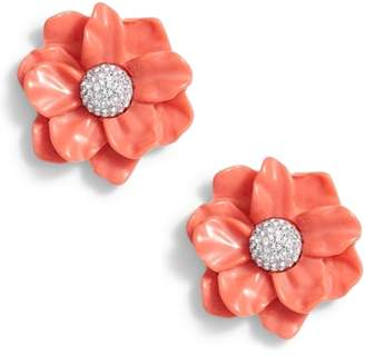 Lele Sadoughi Oversized Gardenia Stud Earrings