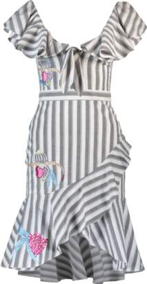 Temperley London Bella Embroidered Ruffle Dress