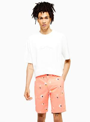 Farah TopmanTopman Pastel Orange 'Hawk' Twill Shorts*