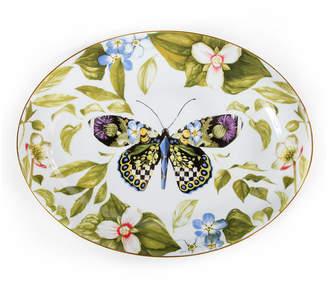Mackenzie Childs Thistle & Bee Serving Platter
