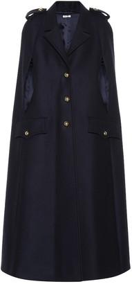 Miu Miu Virgin wool cape