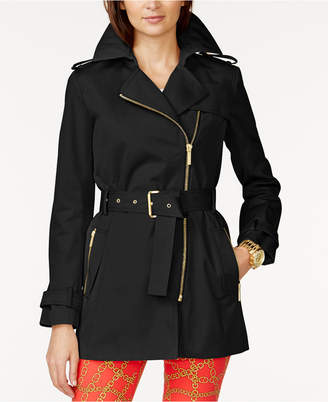 MICHAEL Michael Kors Belted Front-Zip Trench Coat $150 thestylecure.com
