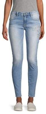 Miss Me Love Only Distressed Skinny Ankle Jeans