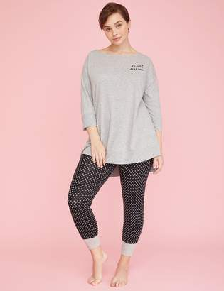 Lane Bryant Dolman Tunic & Legging PJ Set
