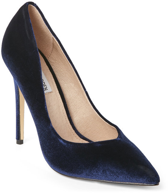 steve madden Blue Wicket Velvet Pointed Toe Pumps