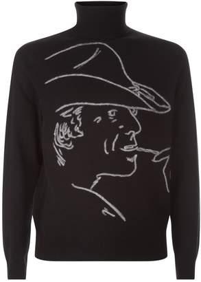 Ralph Lauren Purple Label Illustrated Sweater