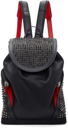 Christian Louboutin Black Explorafunk Spikes Backpack