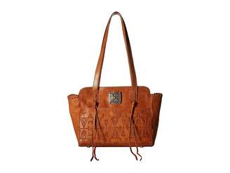 American West Crossed Arrows Zip Top Tote