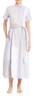 Lisa Marie Fernandez Patchwork Cotton Shirtdress $555 thestylecure.com