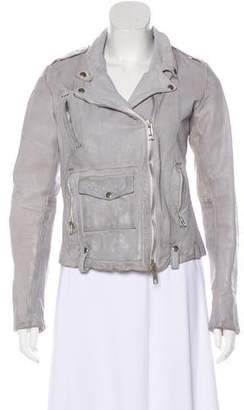 Golden Goose Long Sleeve Leather Jacket