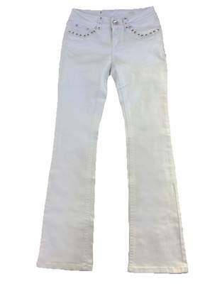 L.A. Idol Jeans La Idol Women Bootcut Jeans Fleur Crystal Button Flap Back Pocket Whip Stitches Stretch in