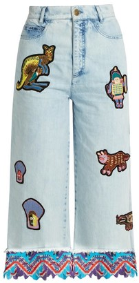 Peter Pilotto Amex X + Francis Upritchard Jeans - Womens - Light Denim