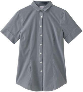 Brooks Brothers (ブルックス ブラザーズ) - ブルックス ブラザーズ ノンアイロン ストレッチコットン ミニギンガムチェック ショートスリーブシャツ Tailored Fit