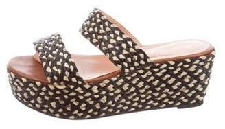 Robert Clergerie Raffia Flatform Sandals