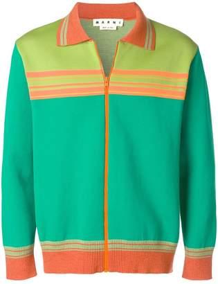 Marni zip front cardigan