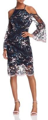 Nanette Lepore nanette Cold-Shoulder Embroidered Sheath Dress