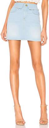 Frame Le High Mini Fold Over Skirt.