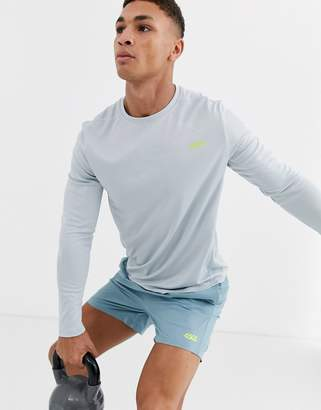 Asos 4505 4505 icon training long sleeve t-shirt in pale gray